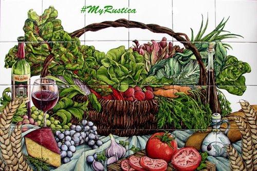 kitchen tile mural Vegetable Basket