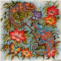 kitchen tile mural Chameleons