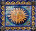 ceramic tile mural Glowing Sunset