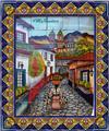 ceramic tile mural Calla Lilies Seller
