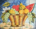custom kitchen tile mural
