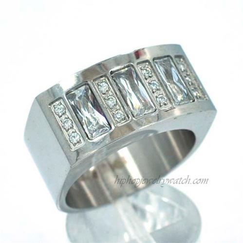 NEW MENS HIP HOP ICED OUT STAINLESS STEEL SNOOP DOG RING RS002S
