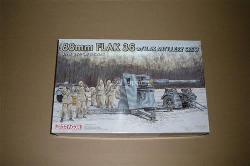 Dragon 1/35 6260 German 88mm Flak 36 w/ Flak Artillery Crew