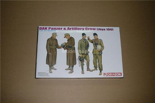 Dragon 1/35 6693 DAK Panzer &amp; Artillery Crew (Libya 1941)