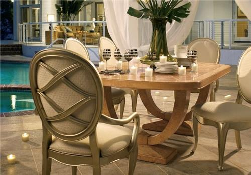 Thomasville  Bogart Luxe Double Pedestal Dining set