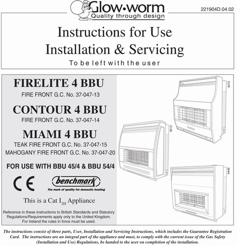 Glow Worm 246 Back Boiler Manual - languagecrise