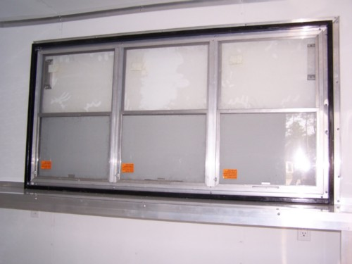 3 X6 Concession Window With Glass Screen Diamond Cargo