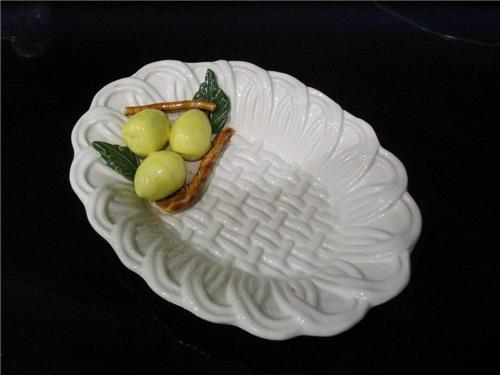 Jay Willfred Basket Weave Lemon Soap Dish 1.JPG