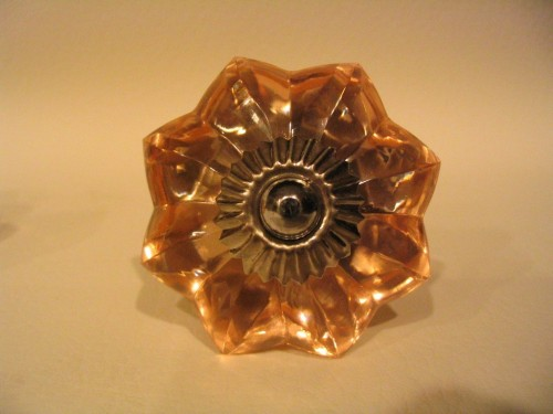 Amber Glass Flower Drawer Pulls Cabinet Knobs Antique Style  Dwyer