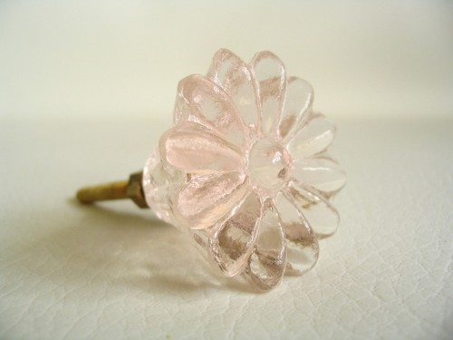 Daisy Glass Drawer Pulls Cabinet Knobs in Light Peach 2.jpeg