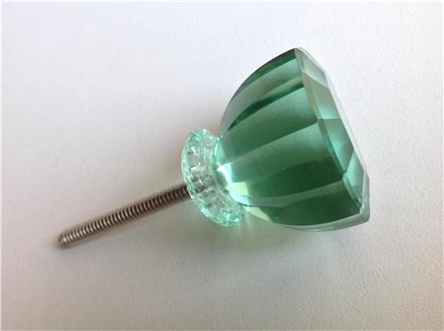 Green Glass Cabinet Knobs And Drawer Pulls: Antique Vintage Style Mint Green Glass Crystal Cabinet