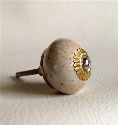 Porcelain crackle finish cabinet knobs pulls decorative for Painted ceramic cabinet knobs