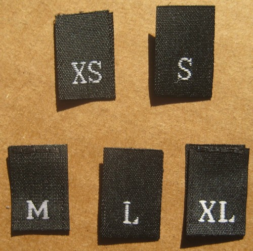 Cheap woven size labels for clothing