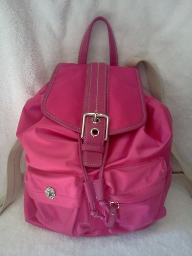 backpack coach outlet t5b7  coach pink backpack