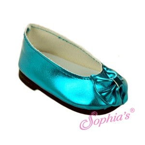 metallic aqua bow shoe.jpeg