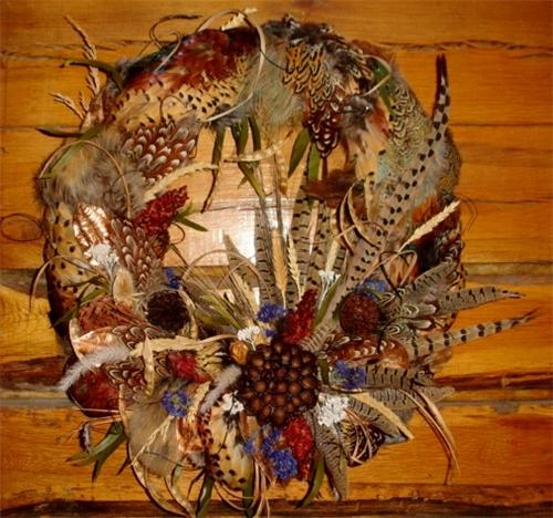 Pheasant Feather Wreath Game Changer Taxidermy Llc