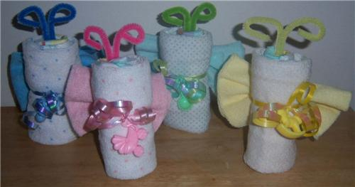 butterfly diaper washcloths baby shower favor