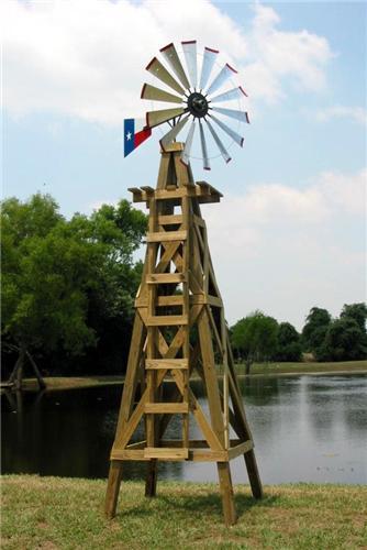 15 Lonestar Decorative Windmill With Texas Flag Rudder