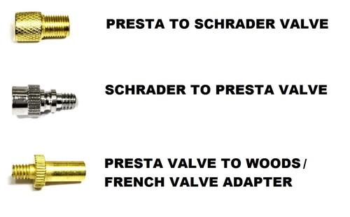 Bicycle Pump Adaptors - Presta/Schrader/Woods/French ...