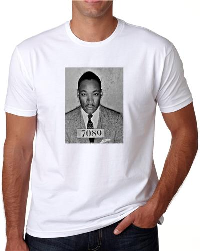 Luther Heats Up The Screen: MARTIN LUTHER KING MUG SHOT T-SHIRT TEE PICTURE PHOTO