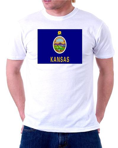 Kansas state flag t shirt tee picture photo topeka wichita for T shirt printing wichita ks