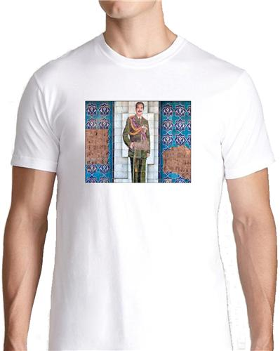 Saddam hussein iraqi mural t shirt tee picture photo cool for Murals on the t shirt