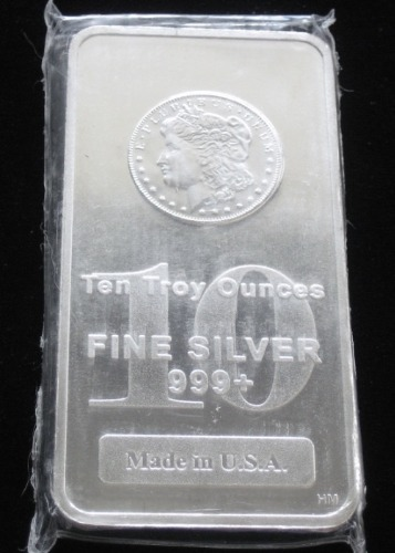 10 Troy Ounce Silver Bar 999 Fine Sealed Abacus Coins