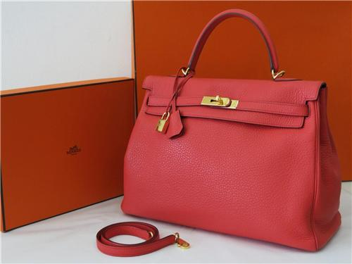 counterfeit hermes bags - Authentic 2010 N Stamp Hermes kelly bag Bougainvillea with Gold ...