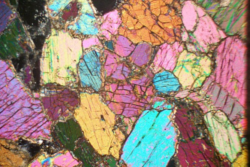 Diopside from Marble, Scotland. Thin Section Microscope ...