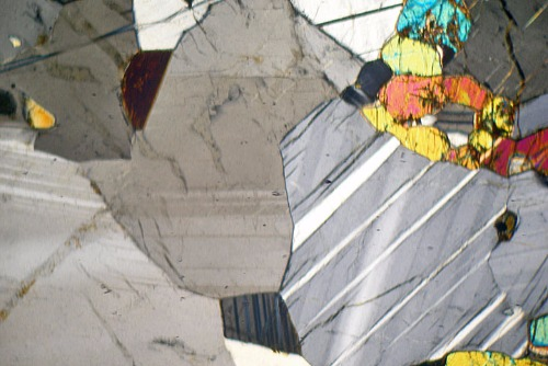 anorthosite thin section