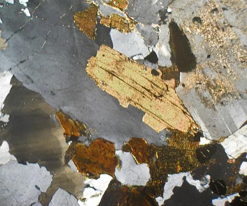 Granite, Ross of Mull, Scotland. Thin Section Microscope ...
