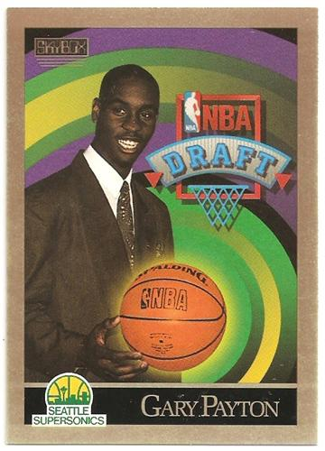 Gary Payton 1990 91 Skybox 365 Basketball Card Blazing