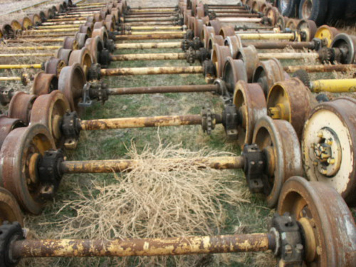 Simplex Hydraulic Rail Puller : Parts process railiron used railroad equipment for sale