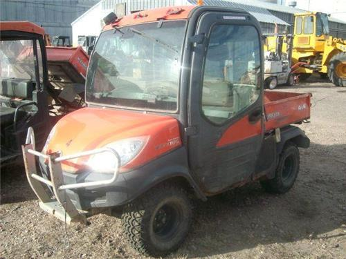 kubota rtv 1100 4x4 diesel dump atv side by side 4 wheeler off road utility railiron used. Black Bedroom Furniture Sets. Home Design Ideas