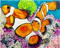 'Clown Fish' Original acrylic painting on canvas by Brisbane Artist G Fahey