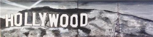 Artist Gill Fahey 2017 Bald Archy Finalist/ Original Art 'Hooray for Hollywood'