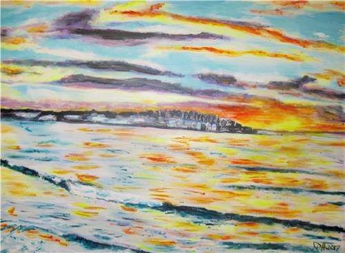 'Original Art 'Bondi on Dusk' Artist Gill Fahey