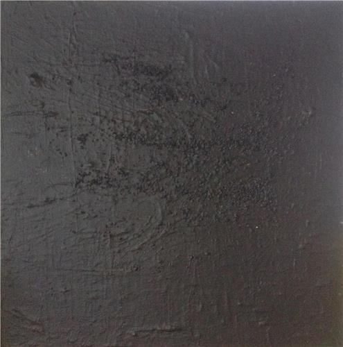 'Black is Black' Eco-Friendly Recycled Canvas Heavy Textured Acrylic Abstract