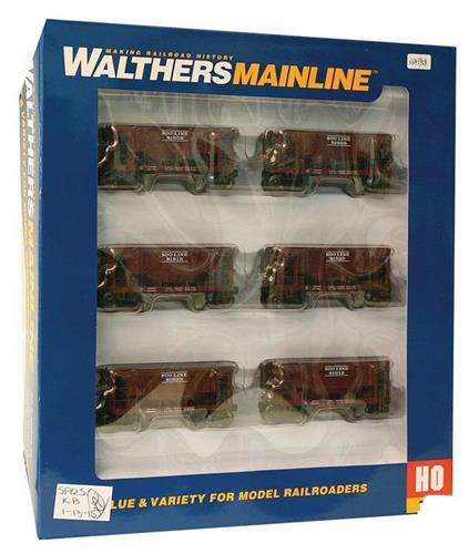HO-Walthers Mainline-910-58020-Soo Line 24' Minnesota Ore Car-6 Car Set-6 Rd #'s