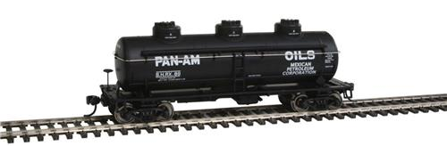 HO-Walthers Mainline-910-1105-Pan Am Oil Company-36' 3 Dome Tank Car #89