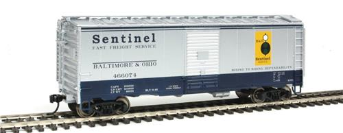 HO Gauge-Walthers Mainline-910-1764- B & O RR #466074-40' AAR 1948 Box Car