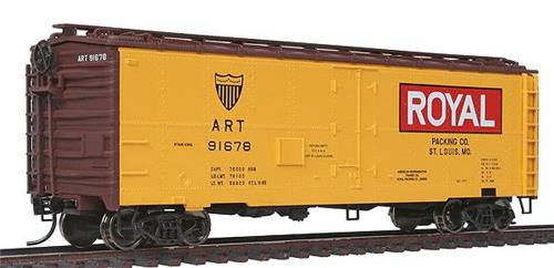 HO-Walthers Mainline-910-3504-Royal ART 91678-40' Steel Meat Refrigerator Car