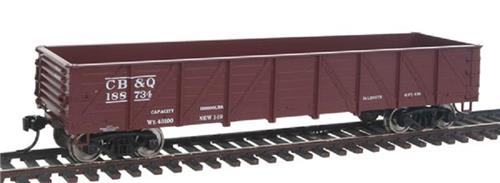 HO-Walthers Mainline-910-5666-C.B.&Q. RR-40' 50 Ton Drop Bottom Gondola #188734