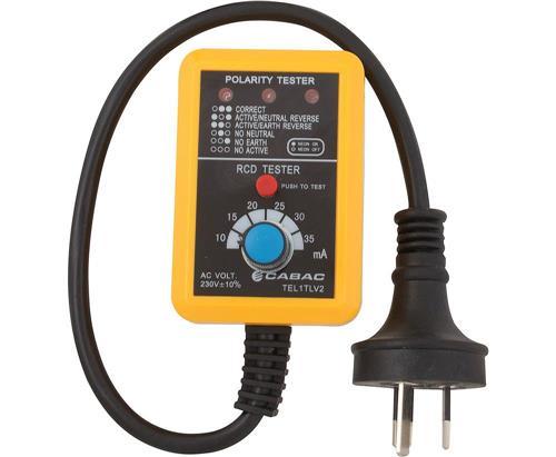 cabac power point tester v2 tel1tlv2 rcd trip power cabac power point tester v2 tel1tlv2 rcd trip power outlet 230v 10amp