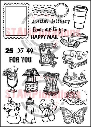 "GONE POSTAL 5"" by 7"" Stamp Set"