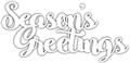 Season's Greetings Phrase Die - CUTplorations