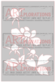 A Bloom and Three Buds - ARTplorations Stencil