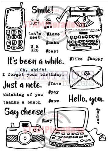 "HELLO YOU 5"" by 7"" Stamp Set"