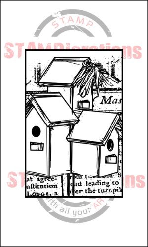 Framed Birdhouse Trio