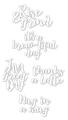 Set of 5 Coffee Phrase Dies - CUTplorations